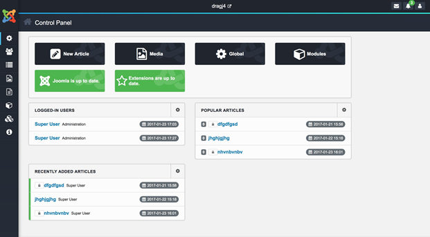 Joomla 4 screenshot