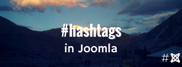 hashtags joomla