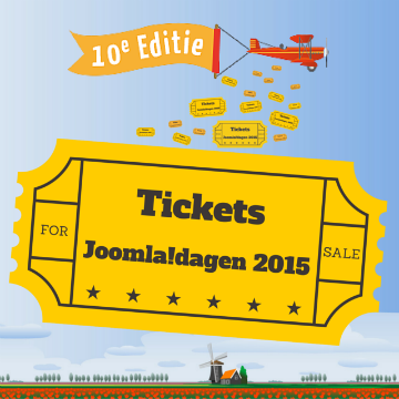 Tickets JoomlaDagen 2015