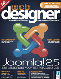Joomla magazine cover