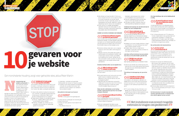 10 gevaren voor je website