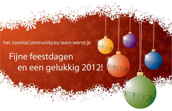Fijne feestdagen en een gelukkig 2012!