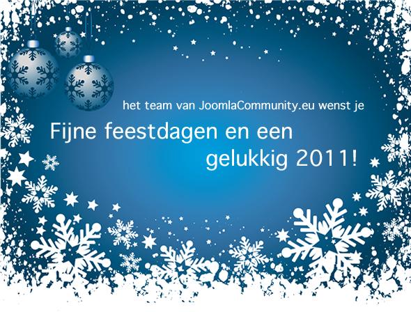 Fijne feestdagen en een gelukkig 2011!