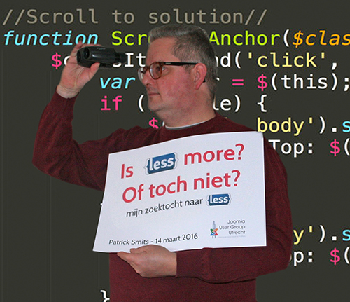 Patrick Smits: 'Is {LESS} more … of toch niet?'