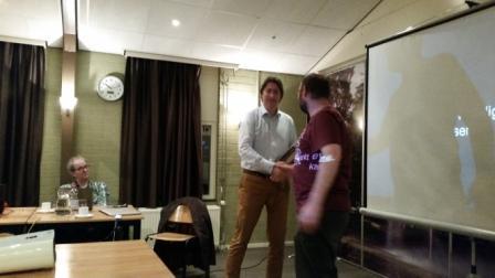 Nico Bouwman bedankt Wilko voor zijn presentatie