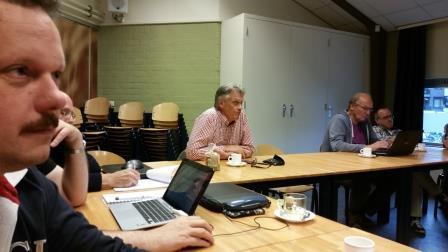 Concentratie bij de presentatie van Jeroen Moolenschot